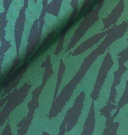 Fibre Mood COUPON Viscose tiger groen 160*140cm