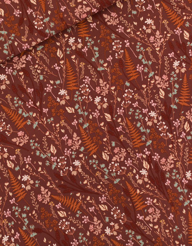 See You at Six Viscose rayon Ferns & Flowers - S - Tortoise Bruin - R