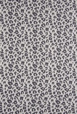 Jacquard leopard grijs