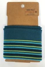 Cuffs strepen groen-blauw 110*7cm