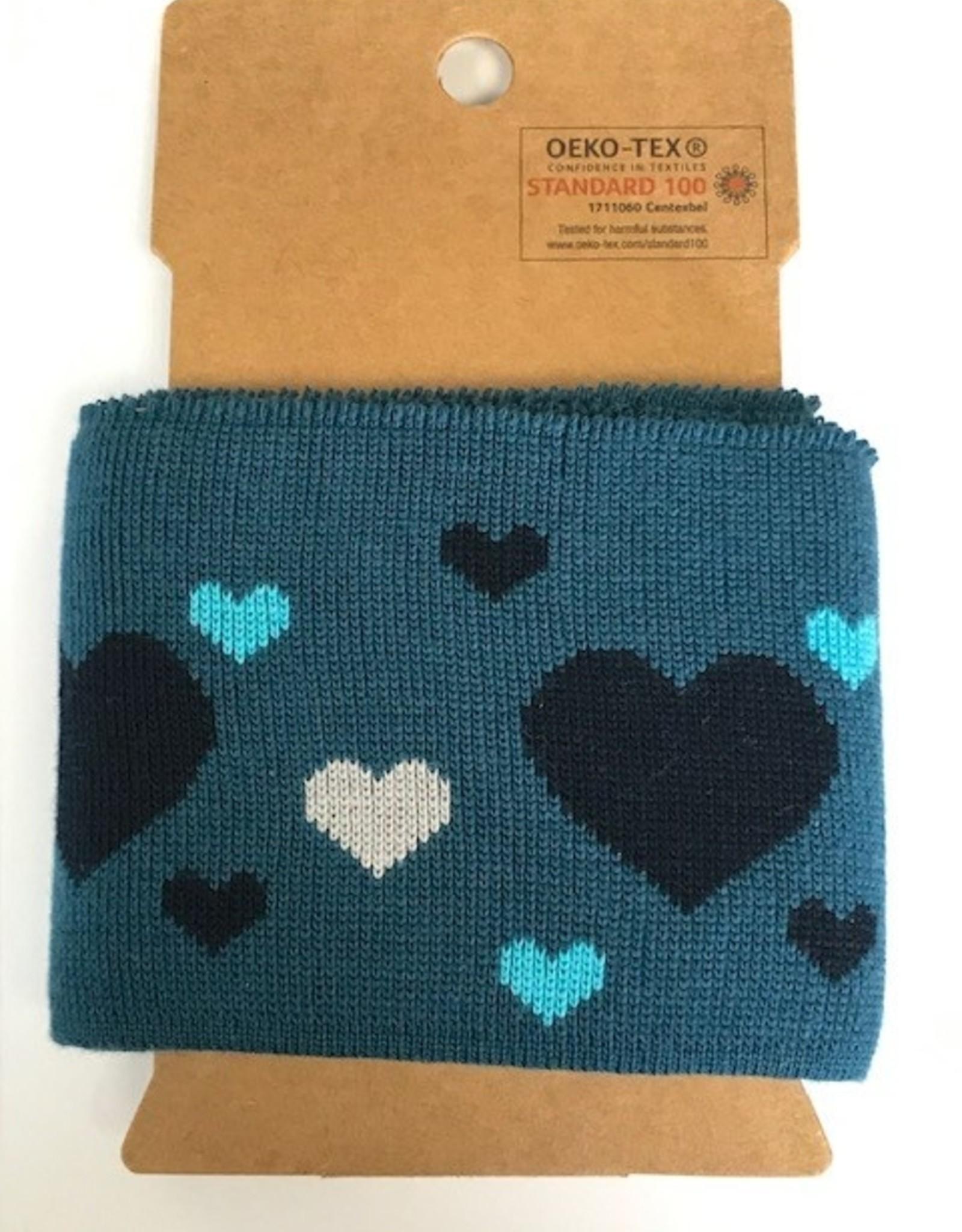Cuffs harts blauw-grijs 110*7cm
