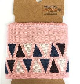 Cuffs driehoek roze-paars 110*7cm