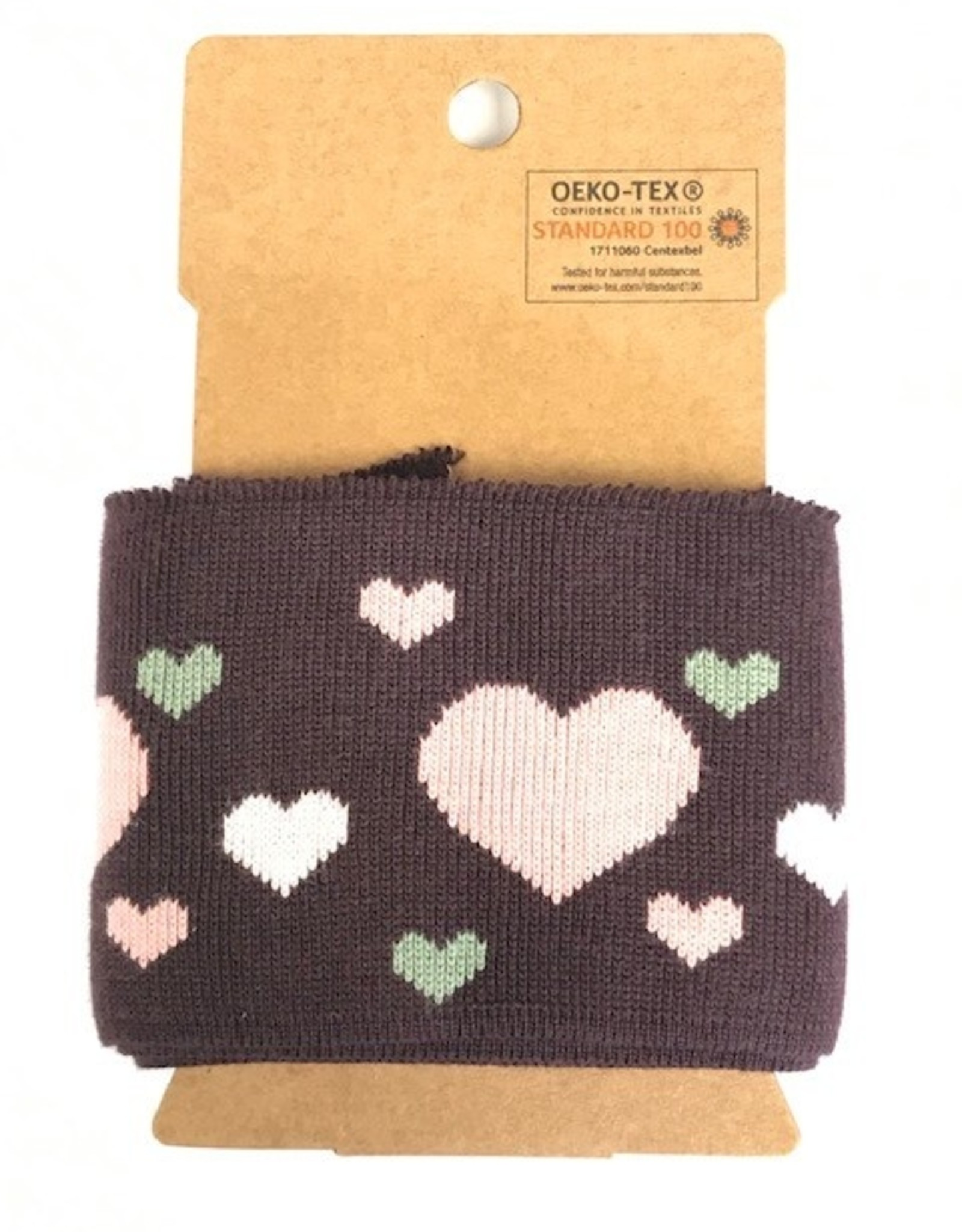 Cuffs harts bordeaux-rose-groen 110*7cm