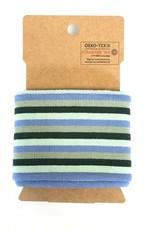 Cuffs strepen groen-paars 110*7cm
