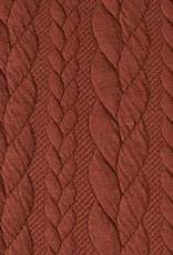 Gebreide kabel terracotta