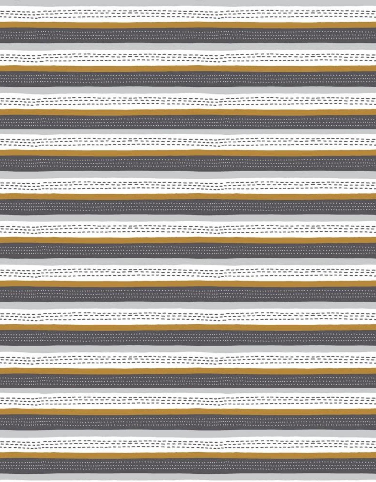 Poppy Soft sweat GOTS stripes oker