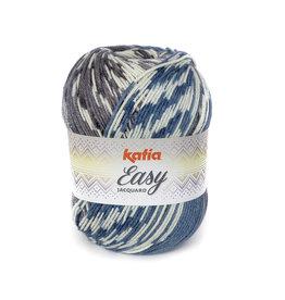 Katia Garen Easy Jacquard 304 blauw