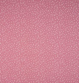 Tricot katoen hagelslag oud roze