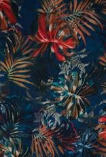 Cupro flowers blauw
