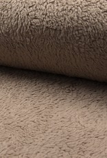 Fur teddy katoen zand