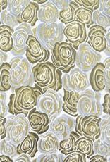 Brokaat rozen wit goud