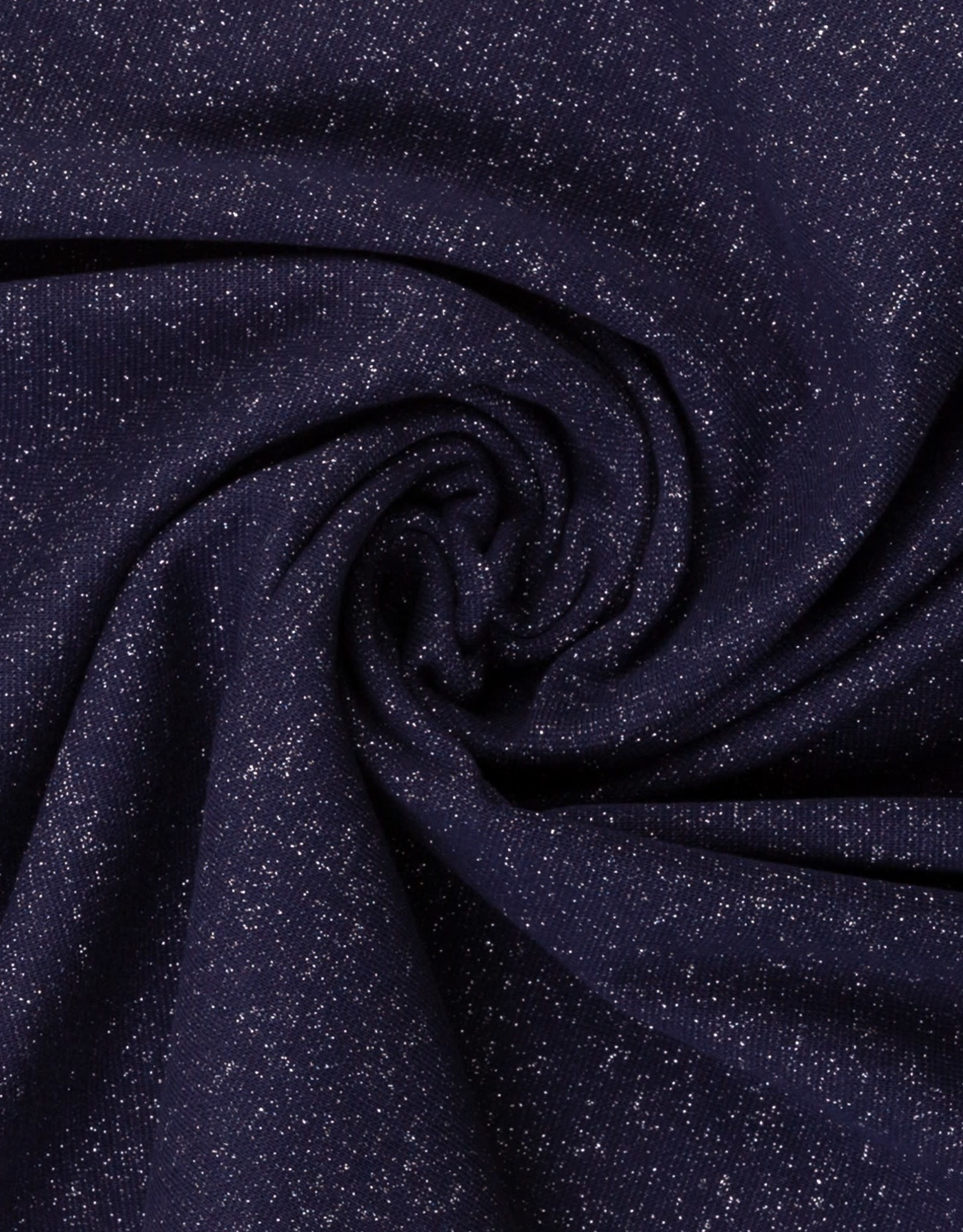 Swafing Boordstof glitter donker blauw zilver