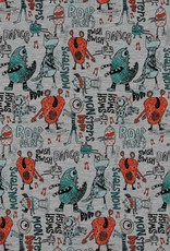 Poppy *French terry dancing monsters grijs