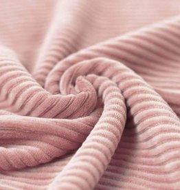 Tricot Corduroy oud roze