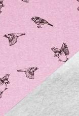 Jogging birds roze