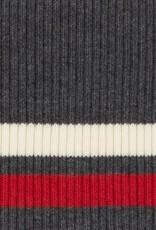 Cuffs gestreept grijs-rood-creme 110*9cm
