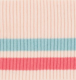 Cuffs gestreept roze-blauw-fuchsia 110*9cm