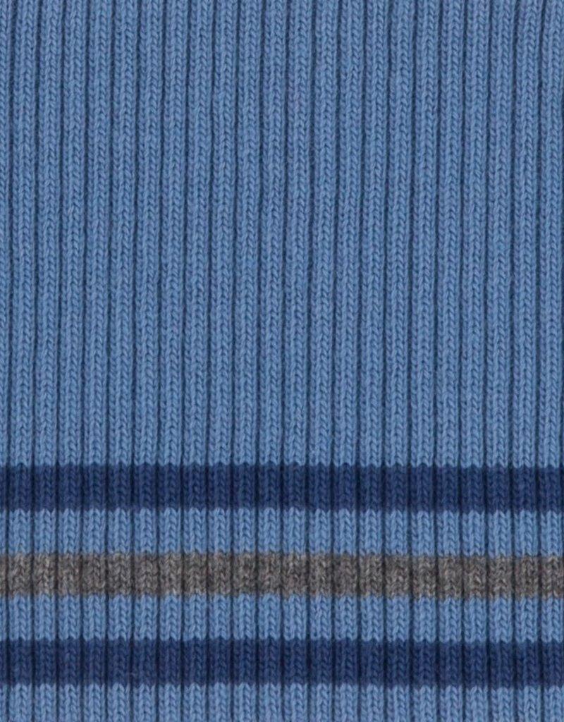Cuffs gestreept jeans-blauw-grijs 110*9cm