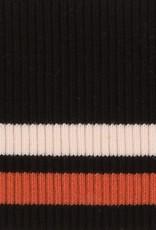 Cuffs gestreept zwart-creme-stone 110*9cm