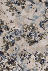 Viscose linnen abstract beige