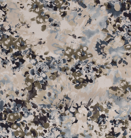 *Viscose linnen abstract beige