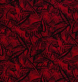 Viscose spandex leaves rood