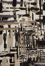Swafing COUPON Viscose tricot Nils abstract olijf 190*140cm