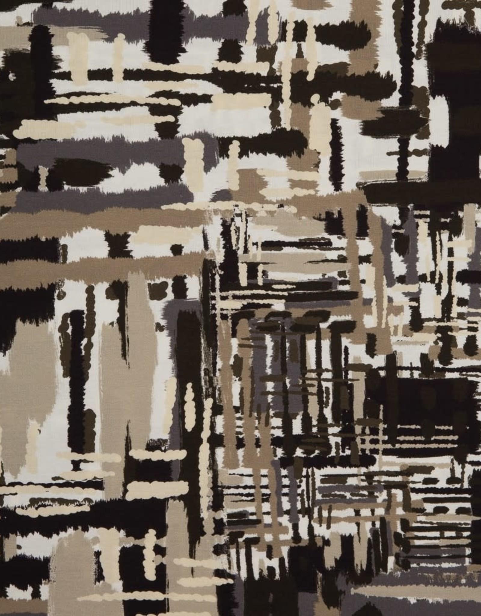 Swafing Viscose tricot Nils abstract olijf