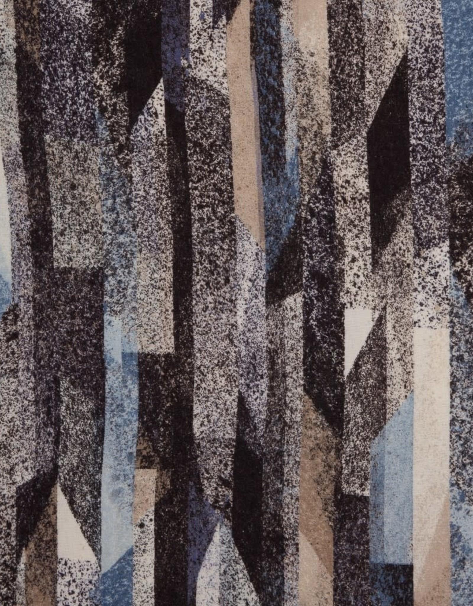 Swafing Viscose tricot Saskia abstract grijs blauw