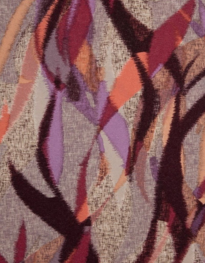 Swafing Viscose tricot Saskia abstract roze paars