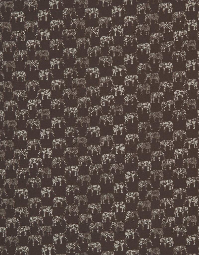 Swafing Katoen Florian olifant bruin
