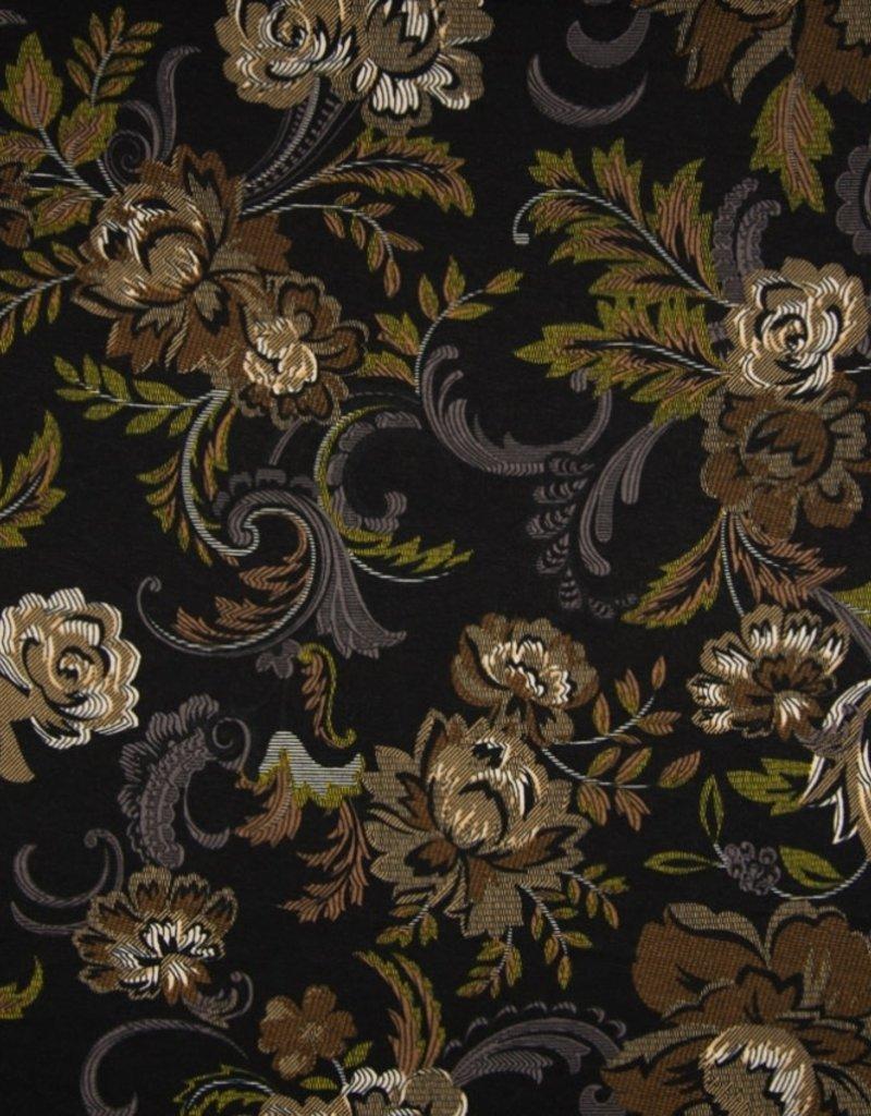 Viscose sp flowers black brown