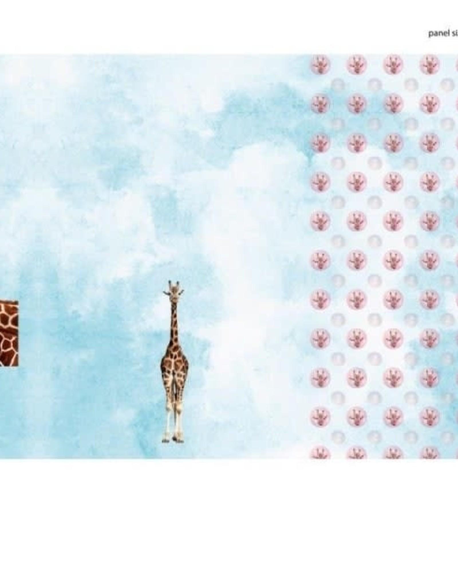 Stenzo Tricot katoen panel giraf