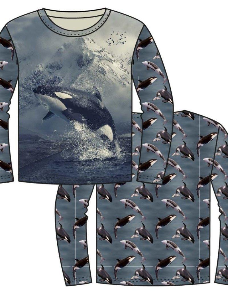 Stenzo Tricot katoen panel orca grijsblauw