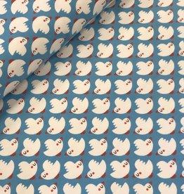 Swafing Tricot katoen Vera birds blauw