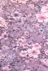 Swafing Tricot katoen Jonne  flowers pink