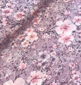 Swafing *Tricot katoen Jonne  flowers pink