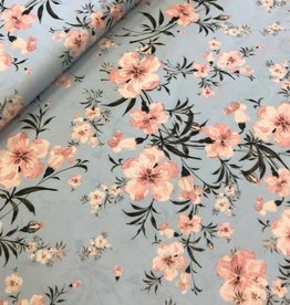 Swafing Viscose flowers blauw