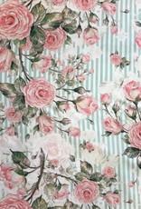 Swafing *Viscose flowers strepen mint