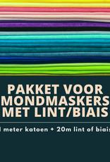Pakket voor mondmaskers met lint