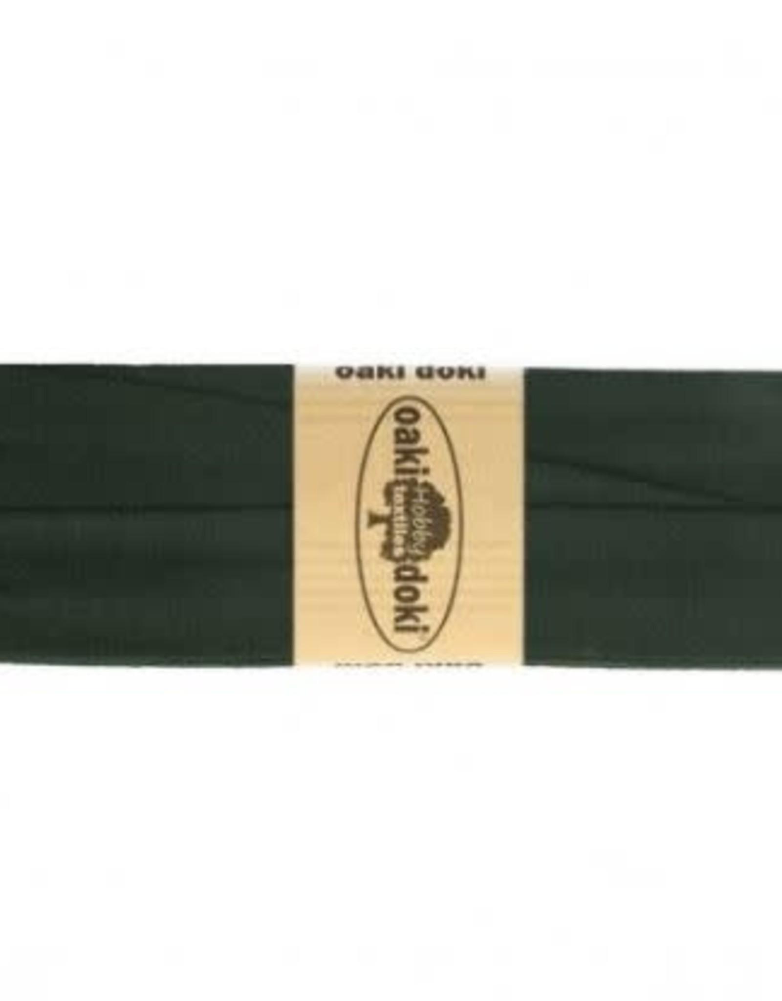 Biais tricot de luxe Oaki Doki donker army 928