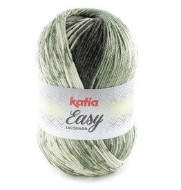 Katia Garen Easy Jacquard 307 grijsgroen-kaki