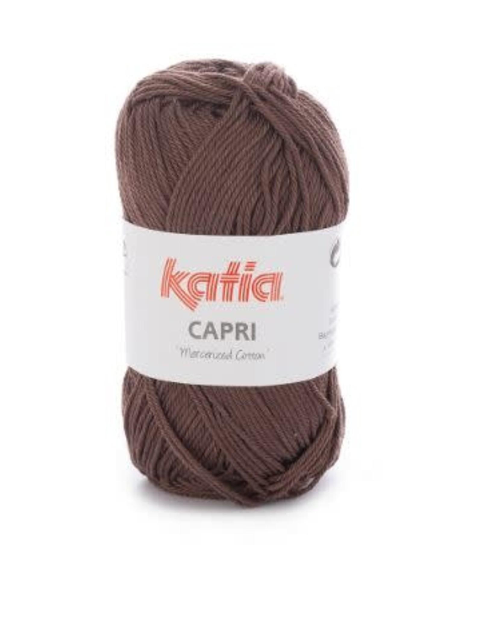 Katia Garen Capri katoen 82127 donker bruin