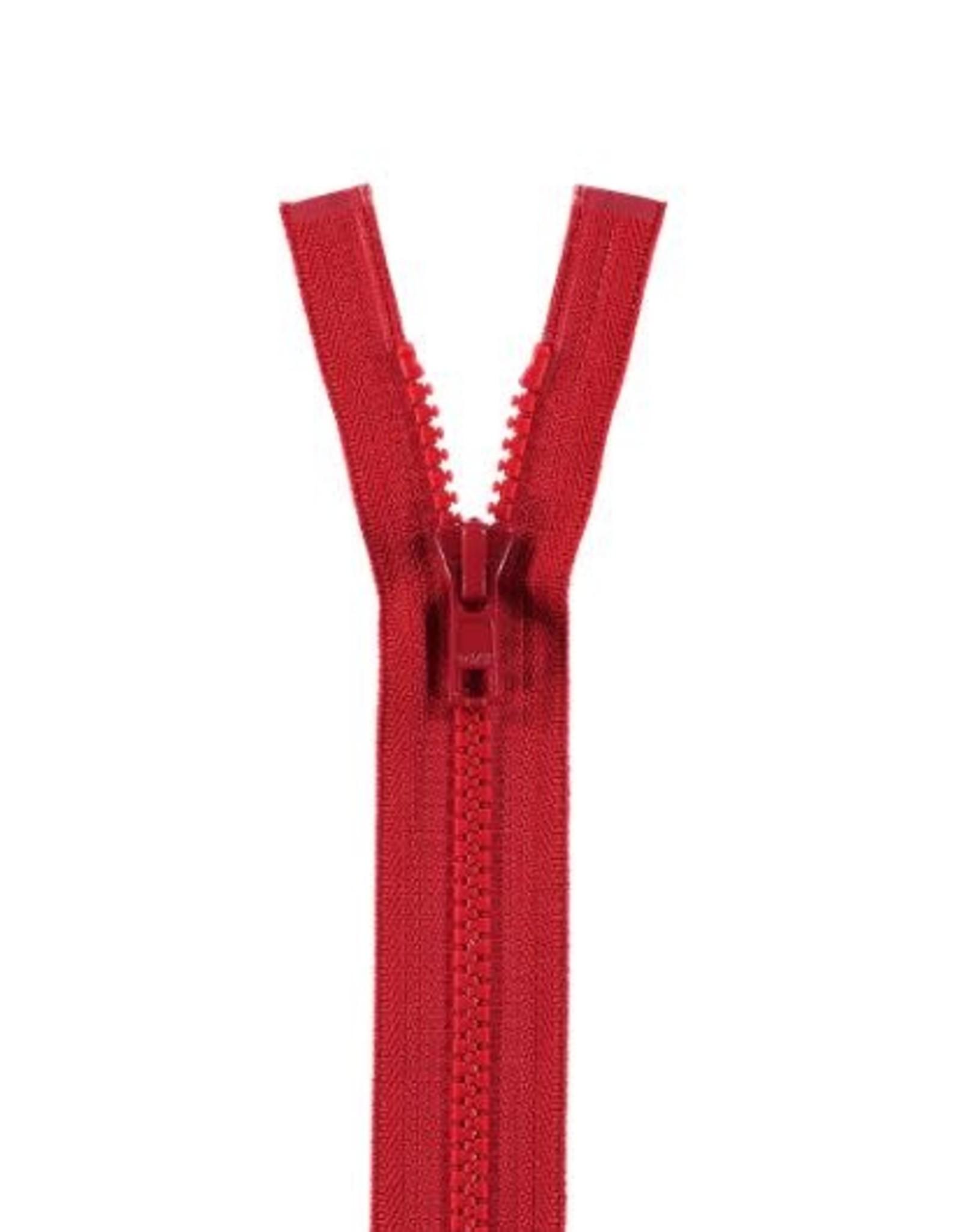 YKK BLOKRITS 5 DEELBAAR rood 519-30cm