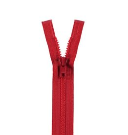 YKK BLOKRITS 5 DEELBAAR rood 519-50cm