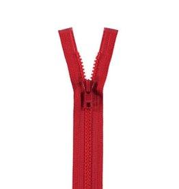 YKK BLOKRITS 5 DEELBAAR rood 519-65cm
