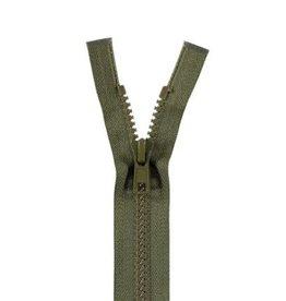 YKK BLOKRITS 5 DEELBAAR legergroen 566-35cm