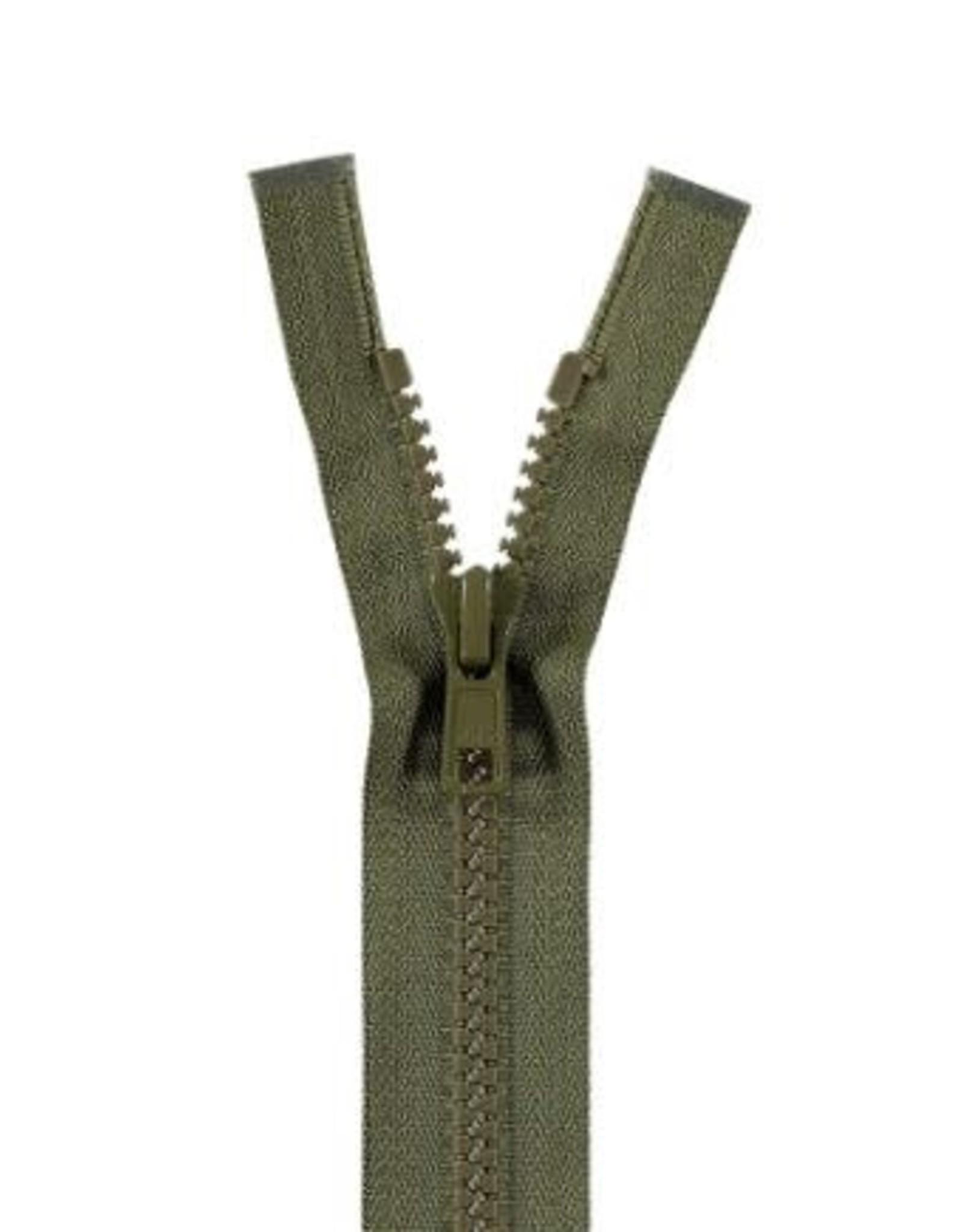 YKK BLOKRITS 5 DEELBAAR legergroen 566-45cm