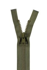 YKK BLOKRITS 5 DEELBAAR legergroen 566-55cm
