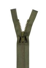 YKK BLOKRITS 5 DEELBAAR legergroen 566-80cm